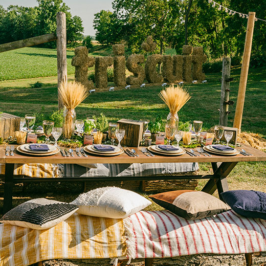 farm table at Triscuit event