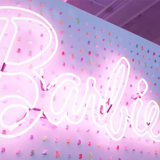 Barbie neon sign